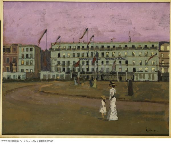 L'Hotel Royal, Dieppe, c.1894 (oil on canvas) , artist: Sickert, Walter Richard (1860-1942)