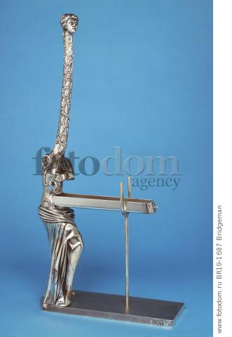 Venus a la Giraffe, 1973 (silvered bronze) , artist: Dali, Salvador (1904-89)