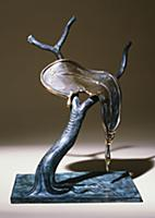Profile of Time, 1984 (bronze with green & brown p