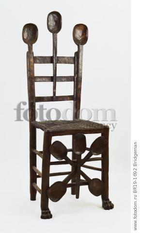 Chair with Spoons (bronze with dark patina) , artist: Dali, Salvador (1904-89)