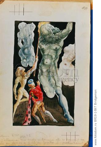 Welcome Cellini and Jupiter, 1945 (w/c & pencil) , artist: Dali, Salvador (1904-89)