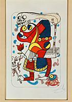 Six designs for Joker playing cards, 1967 (felt-ti