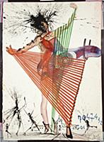 Design for the Harkness Ballet, 1966 (w/c. gouache