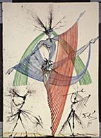Design for the Harkness Ballet, 1966 (gouache, pen