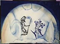 Design for the Harkness Ballet, 1966 (w/c, pen & b