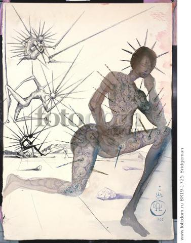 Design for the Harkness Ballet, 1966 (w/c, pen & brush with ink on paper) , artist: Dali, Salvador (1904-89)