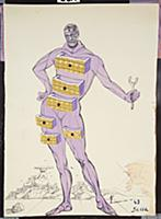 Design for the Harkness Ballet, 1966 (w/c, pen & b