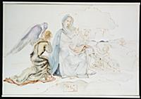 Nativity, 1950 (pen & brown ink over pencil on boa