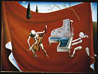 The Red Piano, 1957 (oil on canvas) , artist: Dali
