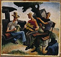 Missouri Musicians, 1934 (oil on canvas) , artist: