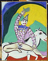 The Clown on a White Horse, c.1926 (gouache on gre