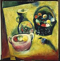 Still Life, 1912-14 (oil on canvas) , artist: Chag