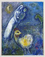 Spring, 1977 (oil on canvas) , artist: Chagall, Ma