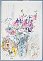 Bunch of Flowers, 1950 (coloured wax crayons on pa
