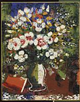Vase of Flowers, 1924 (oil on canvas) , artist: Ch
