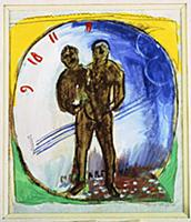 Study for 'Hommage to Apollinaire', 1912 (gouache,