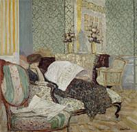 Misia on a Chaise Longue, c.1900 (oil on canvas) ,