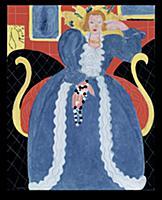 Woman in Blue, 1937 (oil on canvas) , artist: Mati