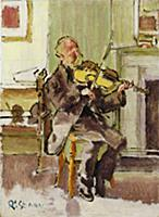 Old Heffel of Rowton House, 1915-17 (oil on canvas