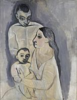 Man, woman and child, 1906 (oil on canvas) , artis