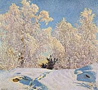 Frost in Sunshine, 1921 (colour litho) , artist: F