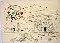 Untitled, letter to Felix Leu, 1966 (felt tip pen