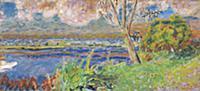 The Seine at Vernon, c.1923 (oil on canvas) , arti