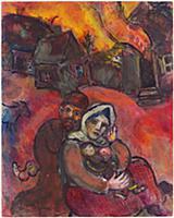 The Burning Village, c.1940-43 (gouache, pastel &