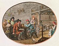 XCF307347 Russian Peasant Hut, 1798 (hand-coloured
