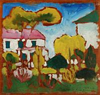 HGH3359395 Landscape, 1912 (oil on panel) by Scham