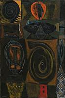 HGH3359407 Masquerade, 1945 (oil and tempera on ca