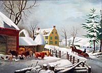 HGH3359371 Winter Morning, 1868 (oil on canvas) by