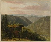 HGH3359358 Rolling Hills, 1846 (oil on artist's bo