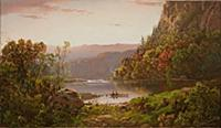 HGH3359362 On Valley River, Virginia, 1864 (oil on