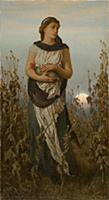 HGH3359368 Memory (Girl with Poppies), 1877 (oil o