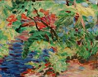 HGH3359390 Landscape, 1908 (oil on board) by Of, G