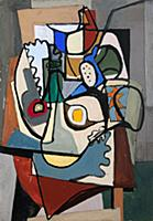 HGH3359386 Still Life, 1936 (casein and tempera on