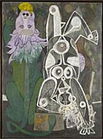 HGH3359387 Lion and Acrobat, 1947 (oil on canvas)