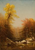 HGH3359401 October in the Catskills, 1879 (oil on