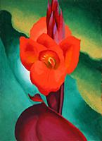 HGH3359402 Red Canna, 1919 (oil on board) by O'Kee