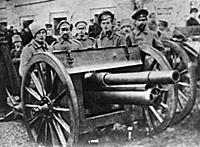 NOV2962231 Troops with a cannon at the Moscow Sovi