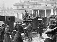 NOV2962224 Red Guards Pose Next to Armored Cars, 1