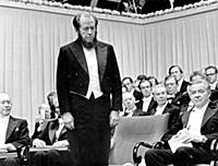 Alexander Solzhenitsyn (1918-2008) receiving the N