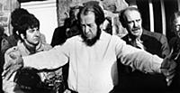 Exiled Russian author Alexander Solzhenitsyn and G