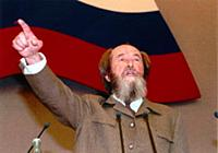 Alexander Solzhenitsyn (1918-2008) addressing the