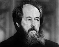Aleksandr Solzhenitsyn, London, 1983 (b/w photo)