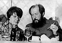 Alexander Solzhenitsyn (1918-2008) and his second