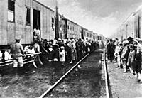 Supplies train for the russian transported convict
