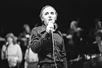 2681312 French singer Charles Aznavour singing on