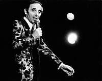 3615469 Charles Aznavour in concert, 1950 (b/w pho